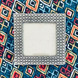 """Sturdy Silver Satin Finish 3x3"""" Picture Frame"""